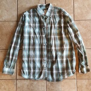 Roper Button Up Long Sleeve Western Shirt. Size M.